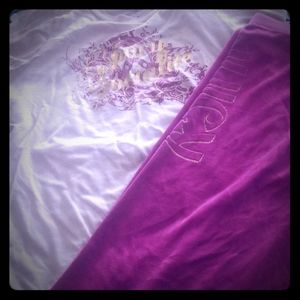 Juicy Couture Velour Sweat Pants and matching Tee